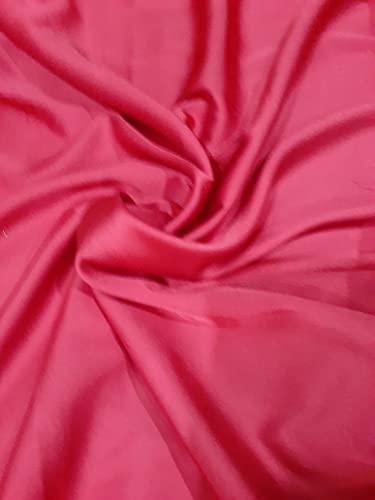 Novato Textiles New Premium Duchess Braut-Satin-Stoff, Brautkleid, Abschlussball, Material, Krepp-Rückseite, 54 cm breit, 4 m lang (rot)
