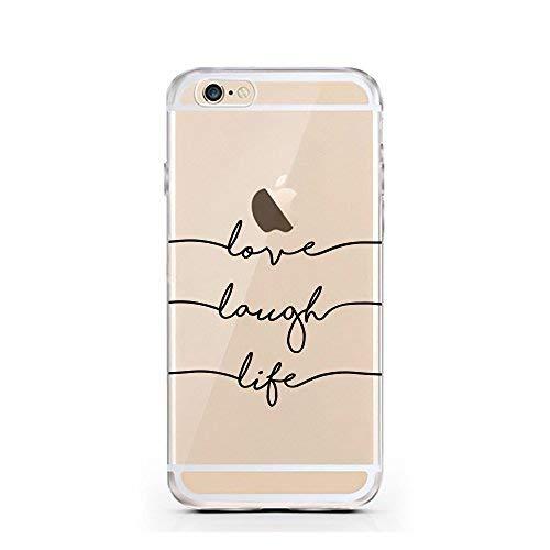 iPhone Cover di licaso per Il Apple iPhone 5 & 5S SE di TPU Silicone Laugh Love Life Modello Molto Sottile Protegge Il Tuo iPhone 5 & 5S con Stile Cover e Bumper
