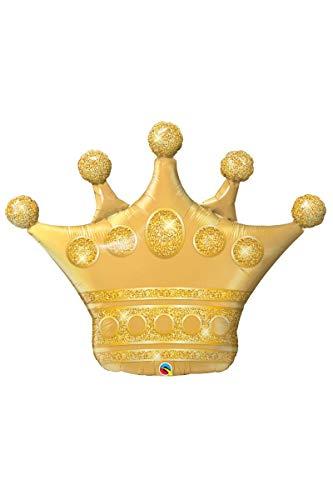 Qualatex-2258236 Globo con Forma de Corona, Color Dorado, 41-Inch (2258236)