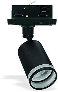 Madara Mini spot LED GU10 avec adaptateur universel 3 phases en fonte d'aluminium Noir