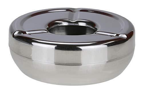 Bambelaa! Aschenbecher Stabile Ausführung Deckel für draußen Windaschenbecher Design Ascher Sturmaschenbecher Edelstahl (1)