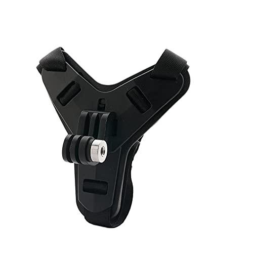 OYiRY Casco de la Motocicleta Chin Soporte de Chin Sports Cámara de Deportes Face Face Accesorios/Ajuste para Gopro Hero 8/7/6/5 (Colour : Black)