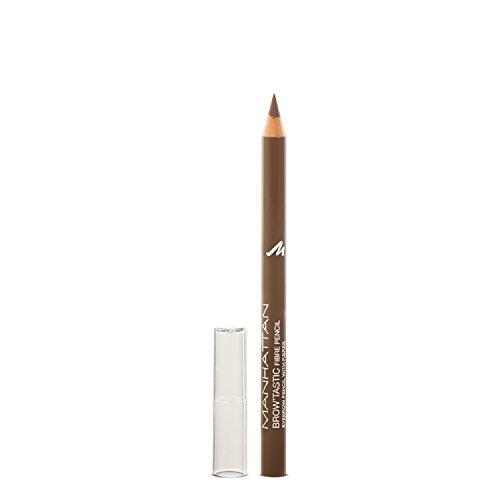 Manhattan Brow'Tastic Augenbrauenstift – Brauner Eyebrow Pencil mit auffüllenden Fasern für dichter wirkende, definierte Augenbrauen – Farbe Medium 002 – 1 x 1,1g
