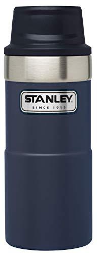 Stanley Legendary Classic Einhand-Vakuum-Thermobecher 0.35 L, Dunkelblau, 18/8 Edelstahl, Doppelwandig Vakuumisoliert, Isolierbecher Kaffeebecher Teebecher Trinkbecher