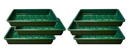 Britten & James Packung mit 6 Professional Saatschalen. Grüne, robuste, leistungsstarke Tabletts aus besonders dickem Kunststoff mit effizienten Drainagelöchern.