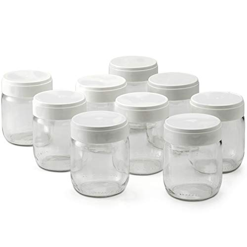 lagrange 430301 Lot de 9 pots yaourt, 0.185 liters