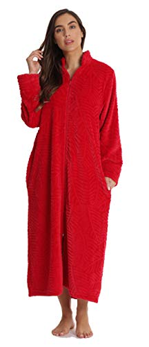 Just Love Plush Zipper Lounger Robe 6729-RED-2X