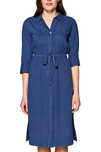 edc by ESPRIT Damen 039CC1E007 Kleid, Blau (Blue 430), (Herstellergröße: 38)