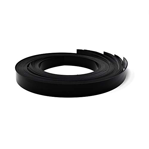Decorative Gondola Shelving Pre Cut Vinyl Insert Strips 48' x 1.25' Shelf C-Channel, Black, 100 Pack