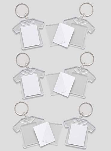 Baker Ross- Kits de llaveros en forma de camiseta (Pack de 6) que los niños pueden personalizar - Manualidades creativas infantiles para el Día del Padre