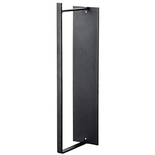 Kaned Percha de pared para colgar de almacenamiento, sin perforaciones, para colocar ropa, color negro