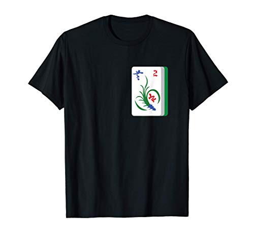 Mah Jong Player Tri Color Mahjong Flower Tiles Chinese Game T-Shirt