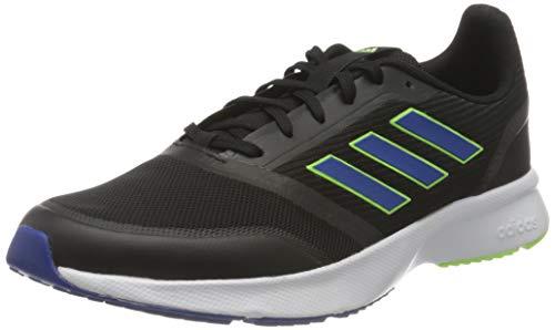 adidas Nova Flow, Zapatillas para Correr Hombre, Core Black Team Royal Blue Signal Green, 42 EU