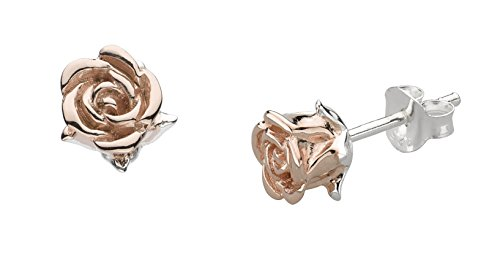 Dew Women's 925 Sterling Silver Rose Gold Plate Blushing Stud Earrings