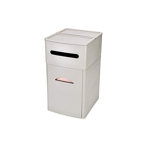 Luckylele La basura doméstica puede desperdiciar la cesta de papel de la basura de la basura del cajón del cajón de la canasta del almacenamiento del tejido del tejido del tejido de la caja de almacen