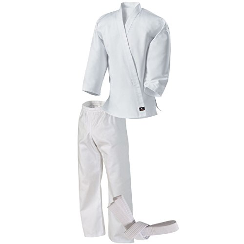 Century Martial Arts Middleweight Student Uniform with Elastic Pant - White, 3 - Adult Small