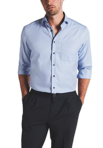 eterna Langarm Hemd Modern Fit Twill strukturiert