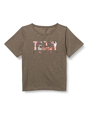 Teddy Smith T-CHOUKI MC JR T-Shirt, Turbulence Kaki, 16 Ans Girls