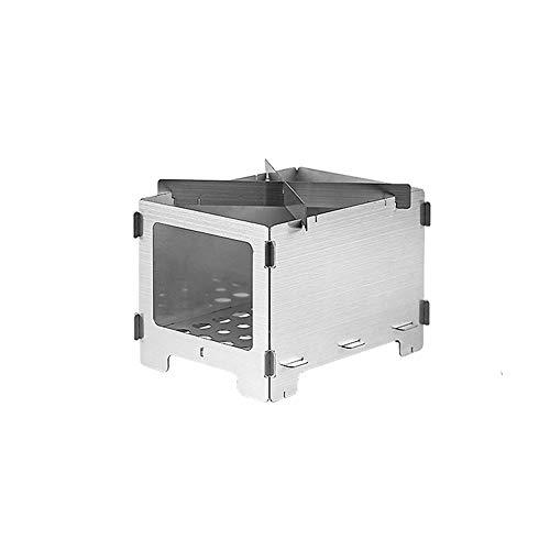 AINY Tragbare BBQ-Holzkohlegrill Faltbare BBQ-Tool-Kits, Hochleistung über Feuer Camping BBQ Grill,M