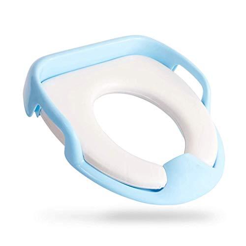 Pot Bebe Toilette Bol de Toilette Siège de Toilette pour Homme et Femme Housse de Coussin de siège Potty Plus pour bébé Réducteurs de Toilettes HUYP (Color : Blue, Size : 17.5cm*14cm)
