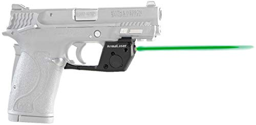ArmaLaser TR28G Designed to fit S&W M&P 380 Shield EZ, M&P 22 Compact and M&P 9 EZ Ultra Bright Green Laser Sight Grip Activation Smith and Wesson