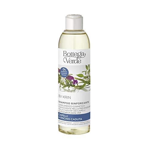 Bottega Verde, BV Krin - Shampoo rinforzante - complemento cosmetico coadiuvante nella prevenzione della caduta* dei capelli - con 8 piante vitali (250 ml) per capelli a rischio caduta