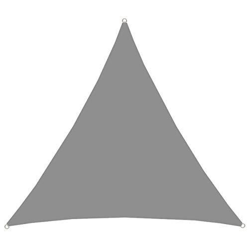AMANKA UPF50+ UV Sonnensegel 3x3x3 Polyester Dreieck Wasserabweisend Wetterfest Garten Balkon Grau