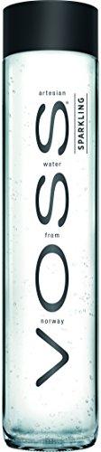 VOSS Water Sparkling 800 ml, natürliches Mineralwasser mit Kohlensäure, 12er Pack (Einweg, 12 x 800 ml)