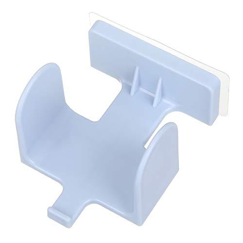 Zapatero de plástico para el hogar, para montar en la pared, soporte de almacenamiento para colgar zapatos (color: azul)