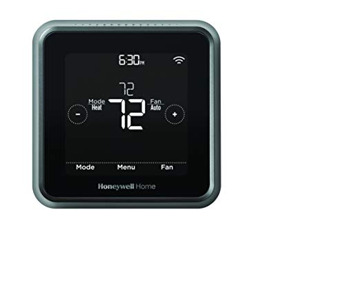 Honeywell RCHT8612WF T5 Plus Wi-Fi Touchscreen Smart Thermostat with Power Adapter (Black)