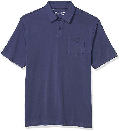 Under Armour Charged Cotton Scramble Hombre, Camisa Polo Masculina con Bolsillo En El Pecho Y Cuello De 2 Botones, Azul, XXL