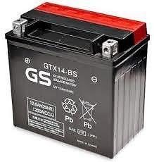 Grupo GS Yuasa - GTX14-BS - Batería de moto, equivalente a la YTX14-BS