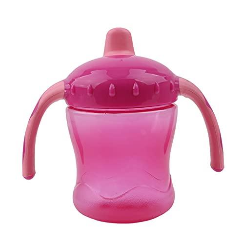 YUHUA Biberón Nuevo Boca Suave Pico de Pato Sippy Entrenamiento Infantil Biberones de Alimentación para Bebés Tazas para Bebés Marca Biberón de Alimentación para Bebés Botella de Agua para Niños,Pink