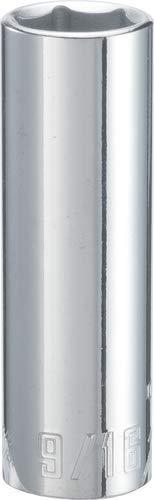 CRAFTSMAN Deep Socket, SAE, 3/8-Inch Drive, 9/16-Inch, 6-Point (CMMT43334) (0.375 Drive Deep Socket)