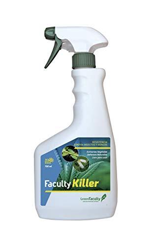 GreenFaculty - Killer - Insecticida, Fungicida Plantas de Interior y Jardín. Antiplagas Ecológico. Triple Acción contra Pulgones, Cochinillas, Araña Roja, Mosca Blanca, Oidio. 750 mL