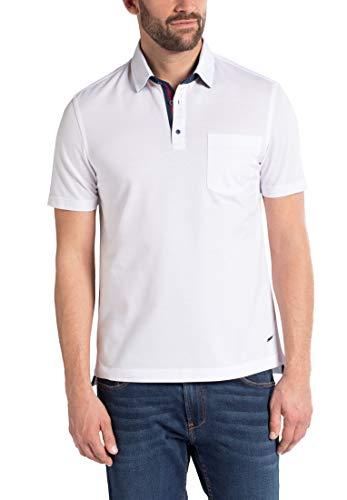 eterna Herren Poloshirt Modern Fit Kurzarm Weiss (10) 44