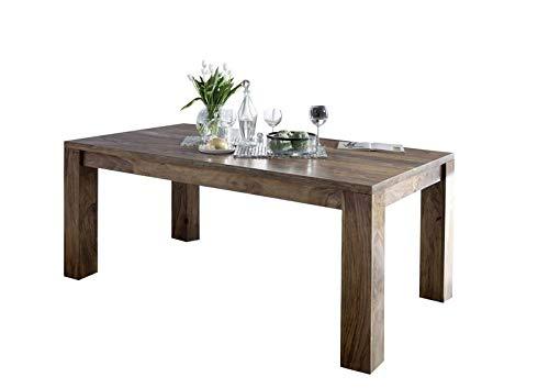 MASSIVMOEBEL24.DE Sheesham Massivmöbel geölt Esstisch 260x100 Palisander Holz massiv Massivholz Pure Sheesham Strong Grey #729