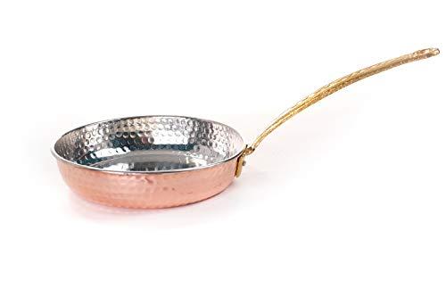 Erotto Sartén de cobre turco, sartén de cobre turco, sartén de huevo,...