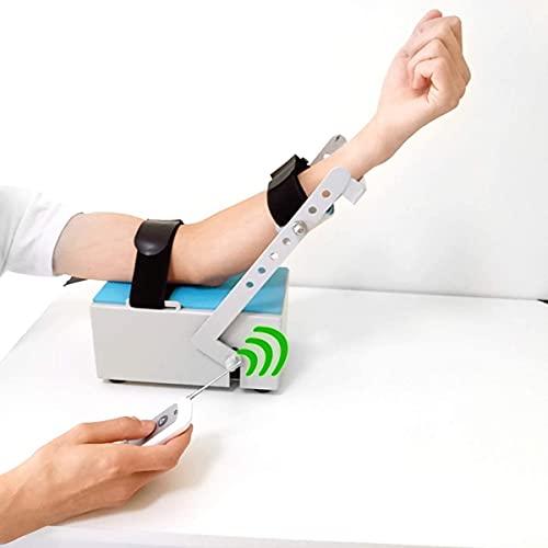 XJYDS Entrenamiento de brazos eléctricos y ortesis de rehabilitación, restauración de fractura ortopédica con control remoto, dispositivo de rehabilitación de entrenamiento para la disfunción del braz