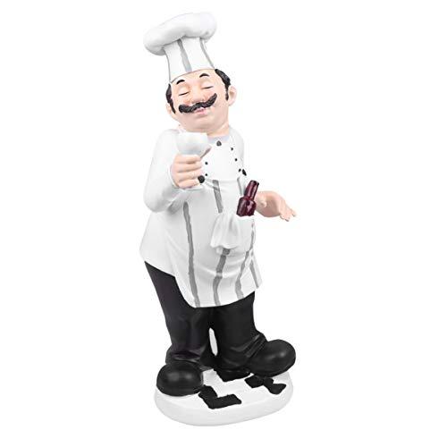 BESPORTBLE Küchen Figuren Miniatur Chef Koch Figur Französischer Küchenchef Harz Dekofigur Tortenfigur Skulptur Statue Dekoration Wohnzimmer Tischdeko Restaurant Deko Cafe Bäckerei Ornament