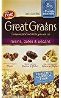 Post, Great Grains, Raisin, Date & Pecan Cereal, 16oz ( 2 Pack)