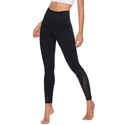 hahashop2 Damen Sport-Leggings Hüfthose Strumpfhose Leggins Hose Strumpfhose Workout Stretch High Elastic Yoga Hosen Pants Einfarbige...