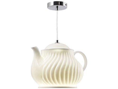 Pfiffig-Wohnen Die Kaffeekanne als lustige Küchen - Hängelampe