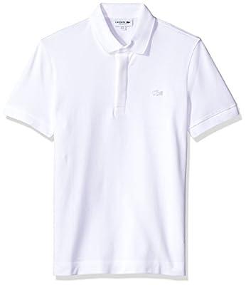 Lacoste Men's Short Sleeve Paris Polo Shirt, White, L by Lacoste