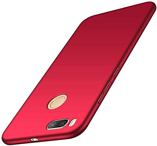 Maxx Xiaomi Mi A1 Funda Rígida Teléfono Móvil Bumper Cover Premium Protección para Xiaomi Mi A1 Rojo (Pack doble, 2 unidades)