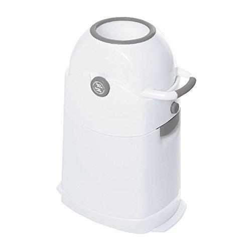 Diaper Champ Seau a couches - Blanc/Argent