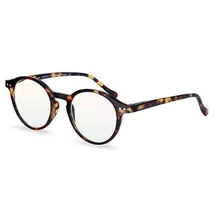 ZENOTTIC Gafas de Lectura de Bloqueo de Luz Azul Lentes Antirreflejos Gafas Retro de Ligero Marco Redondo para Hombres y Mujeres (TORTUGA, 1.50x)