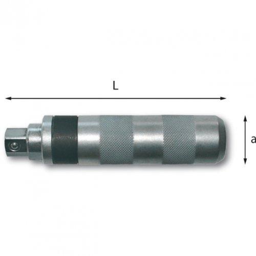 USAG 695001 Destornillador de percusión, cromado, l mm:145, a mm:34