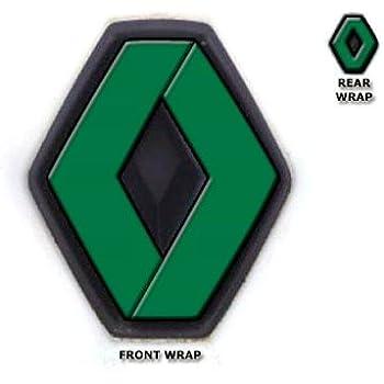 JasonCarlMorgan JCM Front /& Rear Badge Wraps fits Renault Megane MK2 2002-2008 Red