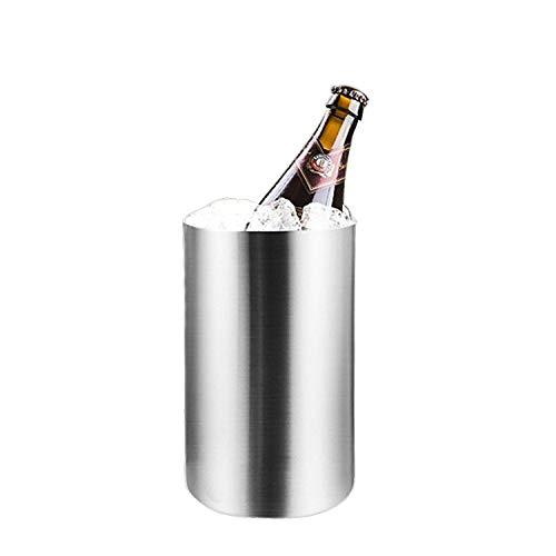 ZZBT Eiskübel 1,6 Liter doppelwandiger, isolierter Edelstahl , Getränkekühler für Partys, Wein, Bier , Riegel